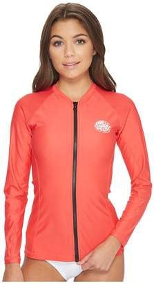 Rip Curl Belle Zip-Through Long Sleeve UV Tee Women's Swimwear
