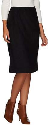 Susan Graver Faux Suede Slim Skirt