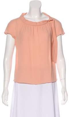 Salvatore Ferragamo Silk Short Sleeve Top