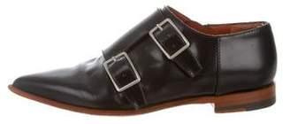 Acne Studios Leather Pointed-Toe Oxfords