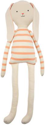 Meri Meri Large Coral Stripe Bunny Toy