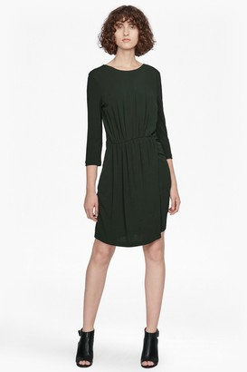 French Connection Elsa Long Sleeved Draped Jersey Dress