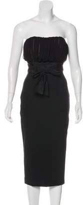 Giambattista Valli Strapless Wool Dress
