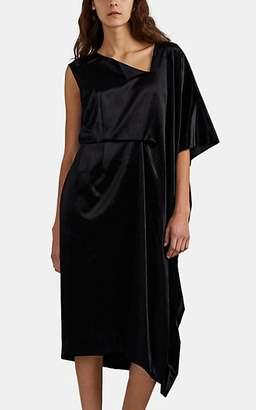 Comme des Garcons Women's Velvet Asymmetric Shift Dress - Black