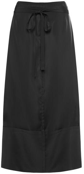 Marni Preorder Black Washed Twill Viscose Skirt