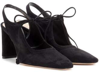 The Row Camil suede pumps