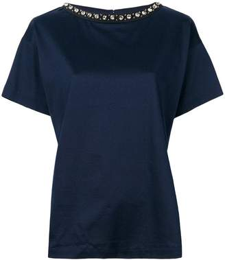 Moncler boxy embellished neck T-shirt