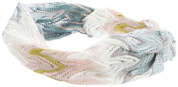 Missoni knitted headscarf