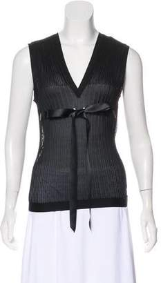 Chanel Rib Knit Sleeveless Top