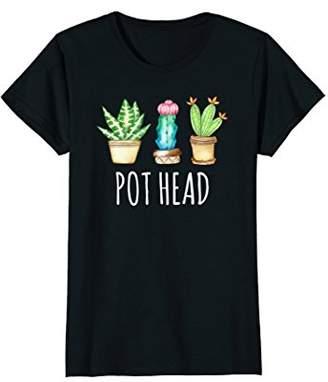 Womens Succulent Shirt Pot Head Funny Cactus Cacti Succulove Tee