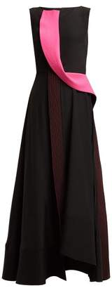 Roksanda Efilia Silk Crepe De Chine Midi Dress - Womens - Black Pink