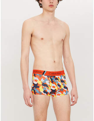 Calvin Klein Limited Edition Expanded camouflage-print classic-fit stretch-cotton trunks