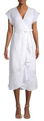 Joie Filma Linen Crossover Dress