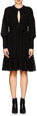 Proenza Schouler Women's Silk-Cotton Fil Coupé Keyhole Dress - Black