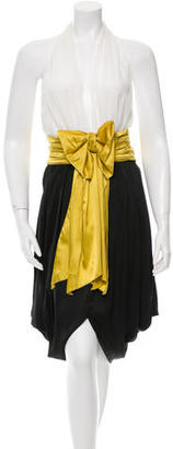 Jean Paul Gaultier Sleeveless Color Block Dress $110 thestylecure.com