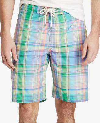Polo Ralph Lauren Men's Plaid Swim Trunks $85 thestylecure.com