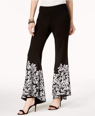 INC International Concepts I.n.c. Petite Printed Flare-Leg Pants, Created for Macy's