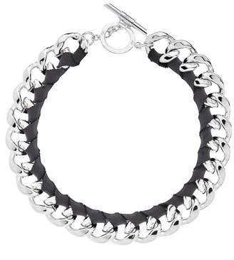 Amanda Wakeley Chunky Silver Ribbon Necklace