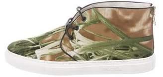 Del Toro Foliage Print Sneakers