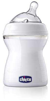 Chicco Natural Feeling PP Feeding Bottle Silicone Teat 250ml Angled End Medium STREAM 2 Months +