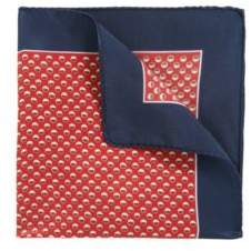 BOSS Hugo Dotted Silk Pocket Square One Size Dark Orange