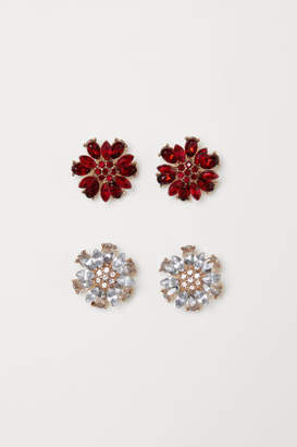 H&M 2 Pairs Earrings - Red