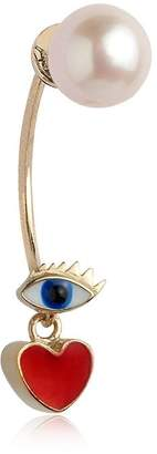 Delfina Delettrez Micro Eye & Heart Mono Earring