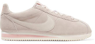 Nike Classic Cortez Suede And Leather Sneakers - Stone