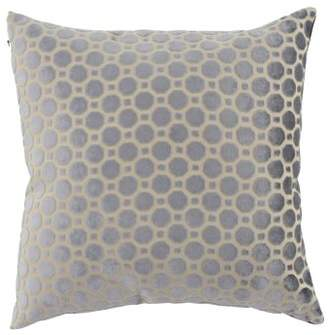 DecMode Decmode Modern 17 X 17 Inch Distressed White Throw Pillow With Geometric Patterns