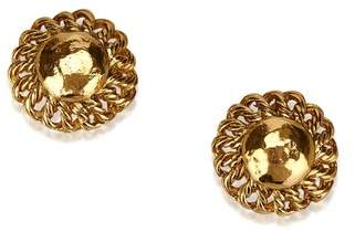 Chanel Vintage Gold-Tone Clip On Earrings