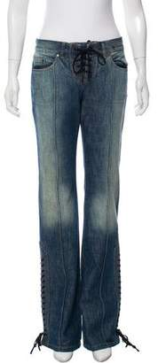 Alexander McQueen Mid-Rise Wide-Leg Jeans w/ Tags
