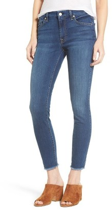 Women's 7 For All Mankind B(Air) Raw Hem Ankle Skinny Jeans $179 thestylecure.com