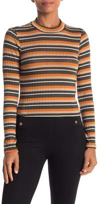 Lush Striped Sweater Top