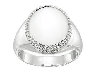 Shinola Detroit Sterling Silver Coin Edge Signet Ring