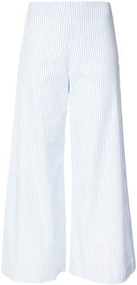 ADAM by Adam Lippes Stripe cropped patch pocket trousers