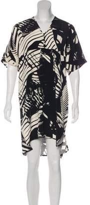 Zero Maria Cornejo Printed Knee-Length Dress