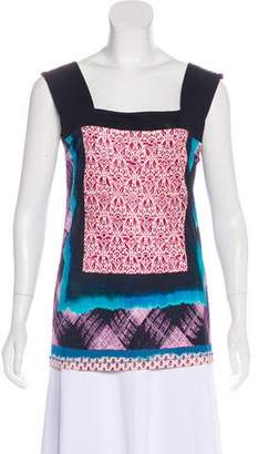Jean Paul Gaultier Soleil Jersey Sleeveless Top