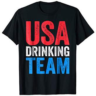 USA Drinking Team T-Shirt Drinking Fourth Of July Gift