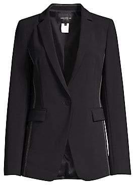 Lafayette 148 New York Women's Roman Contrast Stitch Blazer - Size 0
