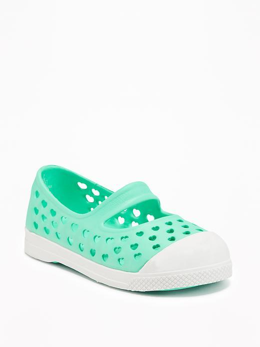 Perforated Pop-Color Slip-Ons for Toddler Girls