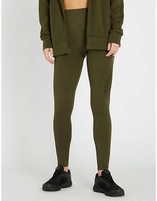 Calvin Klein Mesh-panel stretch-jersey leggings