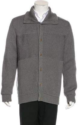 Maison Margiela Wool Rib Knit Cardigan