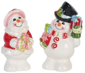 Fitz & Floyd Flurry Folk Salt and Pepper Set