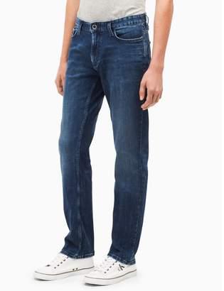 Calvin Klein slim straight mid-blue jeans