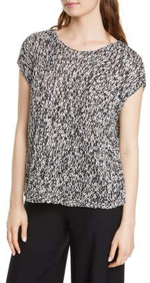 Eileen Fisher Boxy Short Sleeve Organic Cotton Sweater