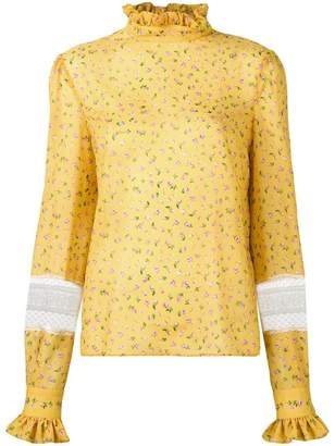 Philosophy di Lorenzo Serafini rose print blouse