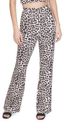 Miss Selfridge Leopard Print Pull-On Pants