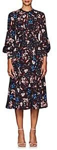 Erdem Women's Carwen Floral Dress - Burgundy