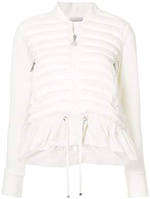 Moncler padded front jersey jacket