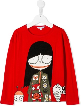 Little Marc Jacobs Monsters printed long-sleeve top